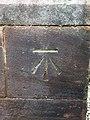 Benchmark at St Mary's Church, Eccleston.jpg