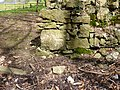 Benchmark on boundary wall of Warren covert at Parc Menai, Bangor - geograph.org.uk - 2354975.jpg