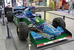 O Benetton B194, carro do título de Michael Schumacher em 1994