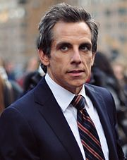 Ben Stiller is photographed in New York CIty in a blue suit