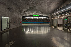 Bergshamra metro station January 2015 01.jpg