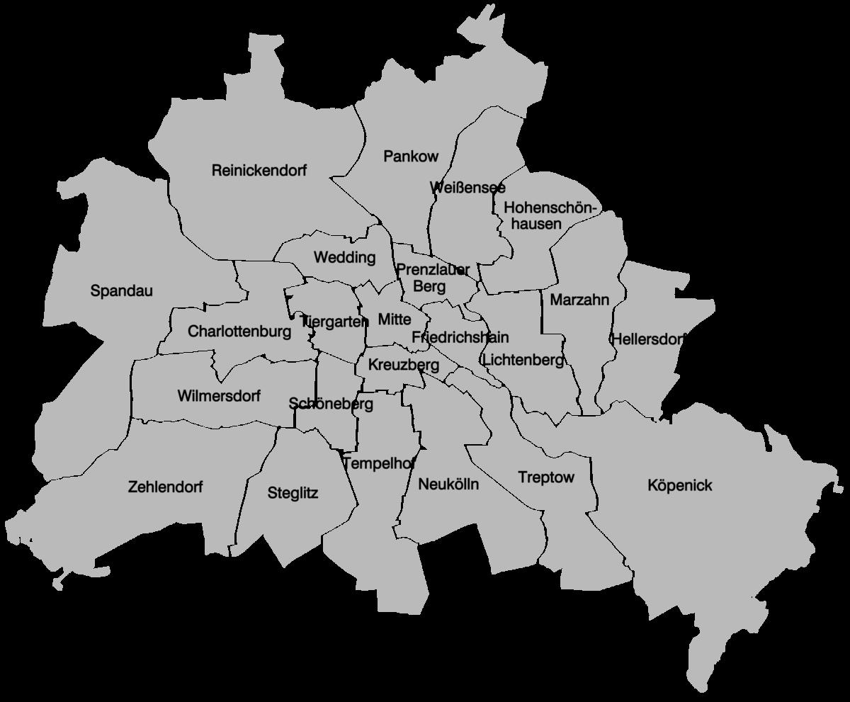bezirke berlin karte Liste der Verwaltungsbezirke Berlins seit 1920 – Wikipedia