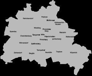 Boroughs and neighborhoods of Berlin - 23 former boroughs (1990-2000)