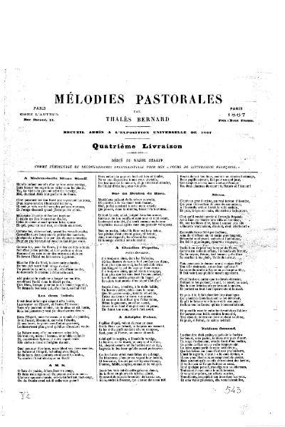 File:Bernard - Mélodies pastorales, 1867.djvu