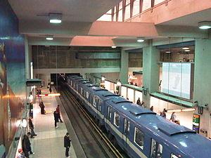 Berri-UQAM station - Green Line platform