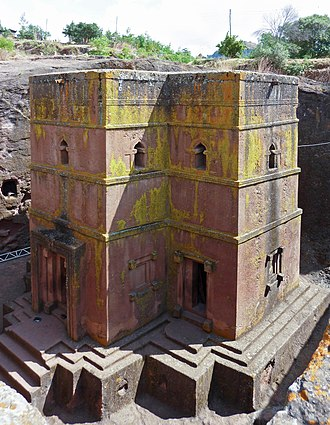 Christianity in Ethiopia - The old Bet Giyorgis rock-cut church in Lalibela