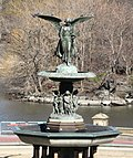 Bethesda Fountain angel sunny winter day.JPG