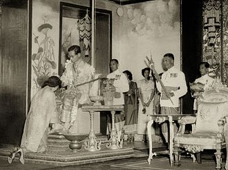 Sirikit - Sirikit in the Establishment Ceremony of the Queen.