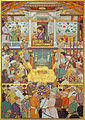 Bichitr - Padshahnama plate 10 - Shah-Jahan receives his three eldest sons and Asaf Khan during his accession ... - Google Art Project.jpg