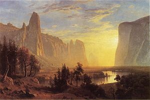 1868 in art - Image: Bierstadt Albert Yosemite Valley Yellowstone Park