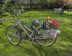 Vélo avec fleurs