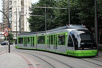 Euskotren Tranbia - Tram in Bilbao.