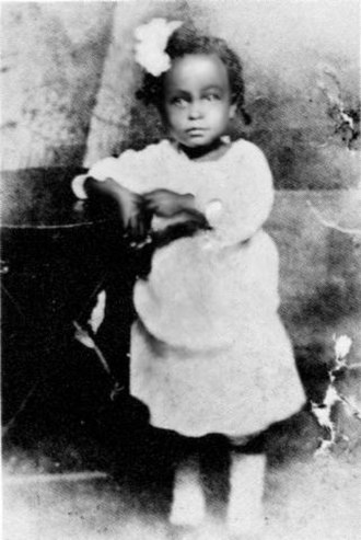 Billie Holiday - Holiday aged 2 in 1917