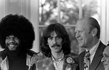 Billy Preston Harrison US President Gerald Ford And Shankar During A Visit To The White House On 1974 Tour