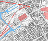100px birmingham worcester wharf central goods depot os map 2nd edition 1905 showing canals rail tunnels and central goods and new street stations