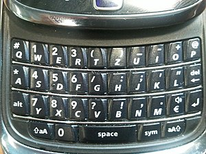 QWERTZ - BlackBerry Torch QWERTZ keyboard