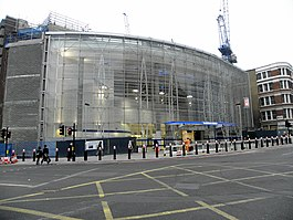 Blackfriars tube stn and Thameslink northern entrance 2012.JPG