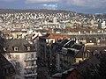 Blick über Wiedikon nach Oberstrass und Fluntern. Im Vordergrund Erlachstrasse - panoramio.jpg