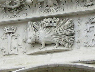 Heraldic badge - The Château de Blois, with the porcupine of Louis XII