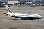Boeing 737-85P(WL) Transaero Airlines EI-RUE (8739113512).jpg