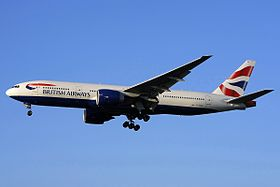 Un Boeing 777-236ER di British Airways.