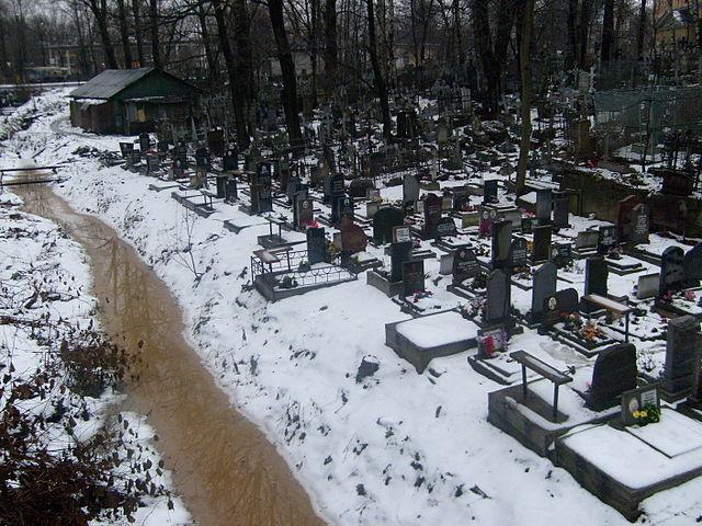 Мужчина загадочно скончался наБольшеохтинском кладбище
