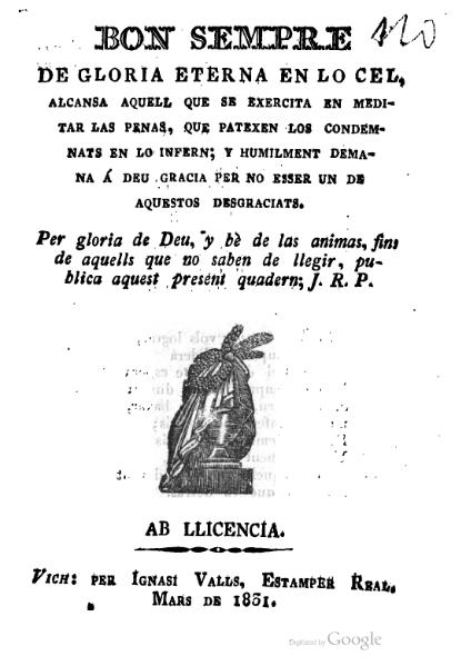 File:Bon sempre de gloria eterna en lo cel (1831).djvu