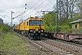 Bonn Oberkassel LORAM RGI 60 Spoorslijpwagen (Schienenschleifzug) (26703803256).jpg