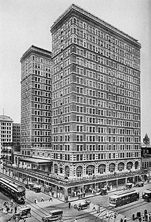 Illustration of the Rice Hotel from 1916