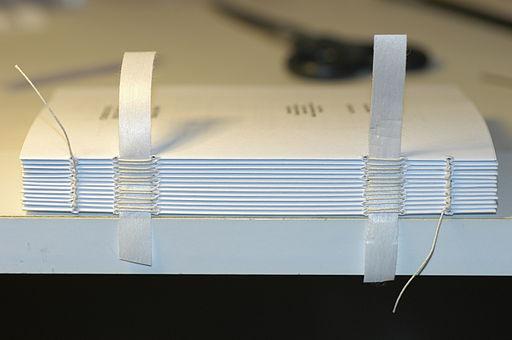 Bookbinding tied block