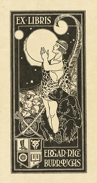 File:Bookplate of Edgar Rice Burroughs.jpg