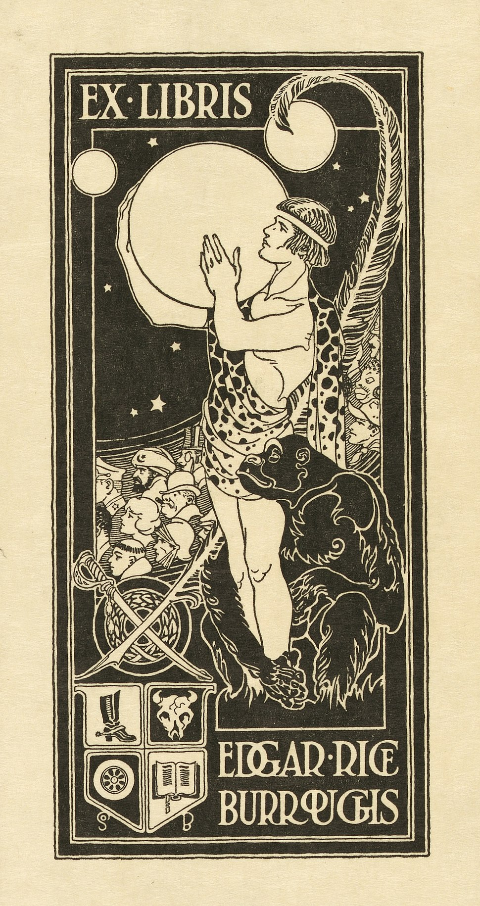 Bookplate of Edgar Rice Burroughs