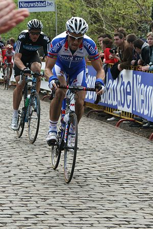 2011 Gent–Wevelgem - Tom Boonen riding at Kemmelberg.