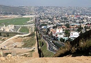 Mexico–United States border International border