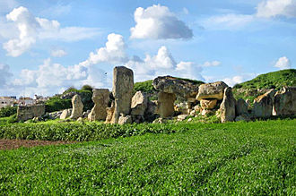 Borġ in-Nadur - The megalithic temple at Borġ in-Nadur