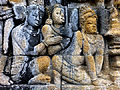 Borobudur - Lalitavistara - 113 E, The Buddha is entertained by Kandha (detail 3) (11248666094).jpg