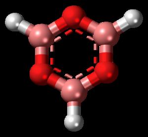 Boroxine - Image: Boroxin 3D balls