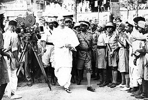 Bose arriving at the 1939 All India Congress Committee meeting. Photo courtesy of Tony Mitra