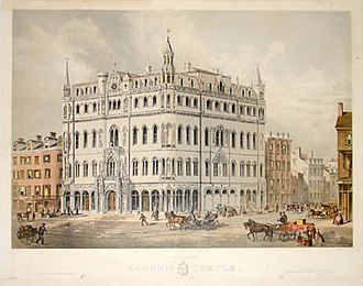 John Henry Bufford - Image: Boston New Masonic Temple 1865
