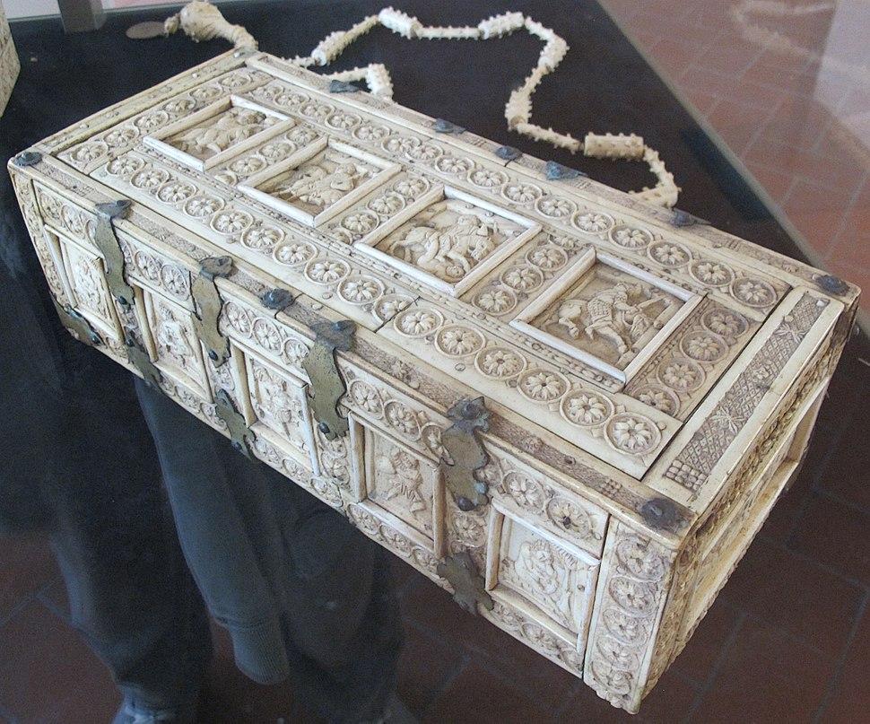 Bottega italo-bizantina, cofanetto a rosette, XI-XII sec, da fraternita dei laici, 02