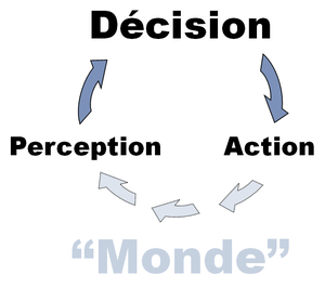 The perception-decision-action loop of artific...