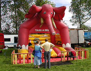 Inflatable castle - An inflatable shaped like an elephant