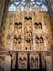 retable de la chapelle de la Vierge à Bourg-en-Bresse
