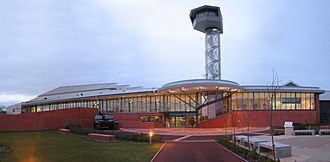 The Tank Museum - The redeveloped museum, with control tower for the adjoining events area.