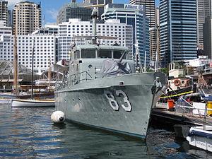 Bow of ex-HMAS Advance Sept 2010.JPG