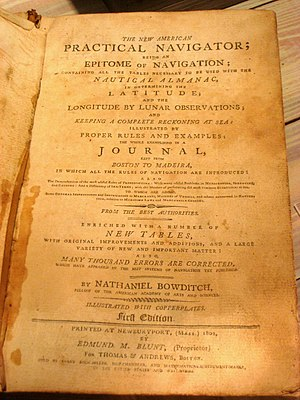 Bowditch's American Practical Navigator - Title page, first edition