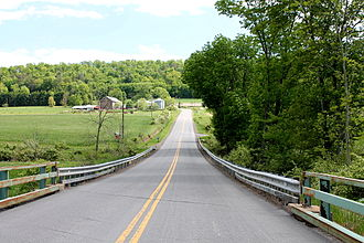 Greenwood Township, Columbia County, Pennsylvania - Bowmans Mill Road in southern Greenwood Township
