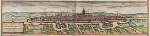 Ulm - Ulm in 1572 by Frans Hogenberg