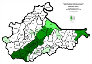 Brčko District - Image: Brcko Udeo Muslimana po naseljima 1961