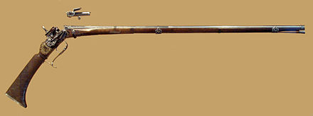 A breech loading miquelet musket with a reusable cartridge, used by Philip V, made by A. Tienza, Madrid, circa 1715 Breech loading firearm belonged to Philip V of Spain by A Tienza Madrid circa 1715.jpg